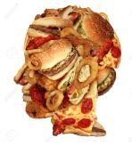 26504359-Ungesunde-Ern-hrung-Gesundheitskonzept-mit-einer-Gruppe-von-fettigen-Fast-Food-in-der-Form-eines-men-Lizenzfreie-Bilder